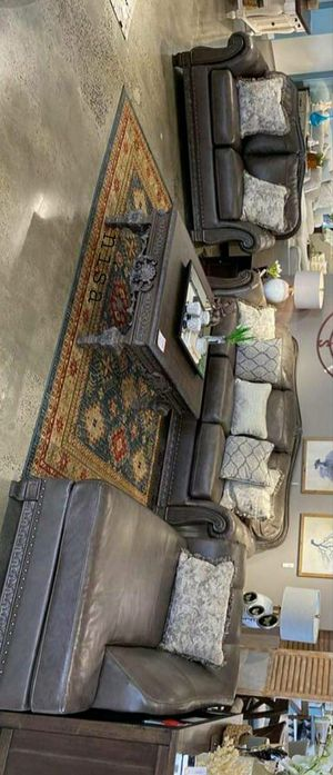 Special for Black Friday ‼ SALES Malacara Quarry Leather Living Room Set 69 for Sale in Jessup, MD
