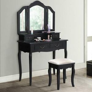 SHIPPING ONLY Vanity Makeup Dressing Mirror Desk and Stool Set for Sale in Las Vegas, NV