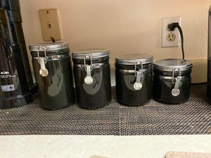 Black kitchen canisters for Sale in Denver, CO