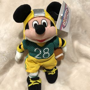 """The Disney Store 8"""" Bean Bag Plush Mickey Mouse Football Player for Sale in Reedley, CA"""