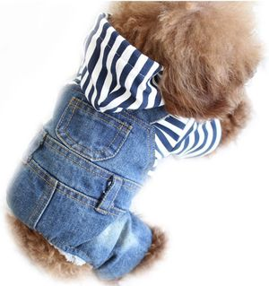 Dog Cat Denim Vest Pet Cloth Dog Outfit Puppy Jacket Hoodie Jumpsuit Overall for Sale in Wilson, NC
