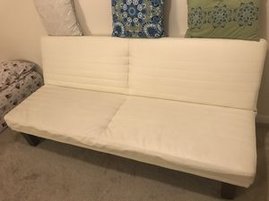 Vanilla Color Couch Futon bed for Sale in Chicago, IL