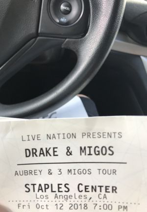 DRAKE & MIGOS TONIGHT AT STAPLES CENTER for Sale in San Diego, CA