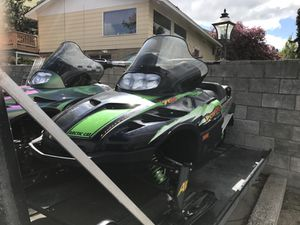 FIRE SALE - DON'T WANNA STORE UNTIL FALL TO SELL!! Two well maintained snow machines AND trailer. $5k value, will sacrifice for $3200 cash to see t for Sale in Klamath Falls, OR