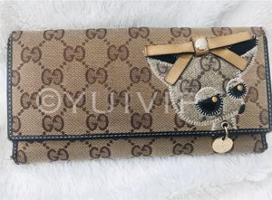 Authentic GUCCI Long wallet Folded GG canvas Chihuahua Canvas for Sale in New York, NY