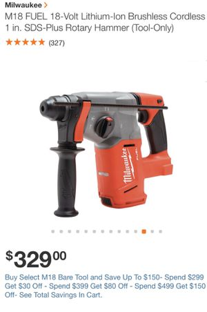 Drill(STEAL !!!BRAND NEW)!!M18 FUEL 18-Volt Lithium-Ion Brushless Cordless 1 in. SDS-Plus Rotary Hammer (Tool-Only) for Sale in Dearborn, MI