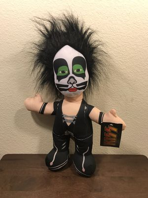"""NWT Kiss Band Eric Singer 15"""" Plush Stuffed Figure Doll Toy Factory for Sale in Murray, UT"""