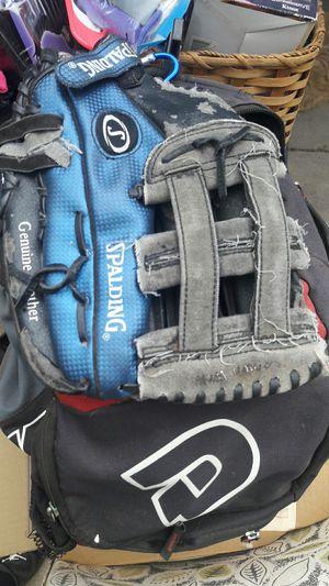 Baseball glovesand back pack for Sale in Los Angeles, CA