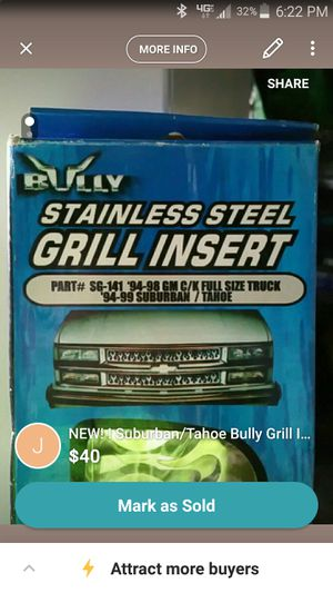 NEW! ! C/K/Suburban/Tahoe Bully Grill Insert for Sale in North Olmsted, OH