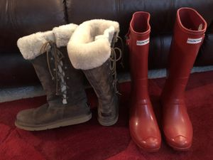 Women boots hunter and ugg size; 10 for Sale in Annandale, VA