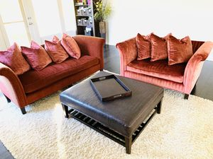 Couch and loveseat set, custom design for Sale in Highland Park, IL