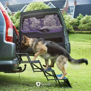 Dog Stairs for Your Medium or Large Pet to Get Into The Car or SUV - Portable Ladder Ramp with Wide Steps - Folding Accordion Design Packs Small - Dur for Sale in Rancho Cucamonga, CA
