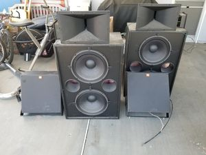Used speakers, amp crossover for Sale in Ontario, CA