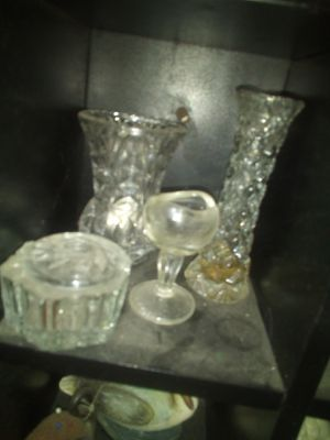 vintage crystal chochkies Or brick n brack for Sale in Tacoma, WA