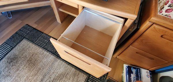 Six piece oak corner desk set