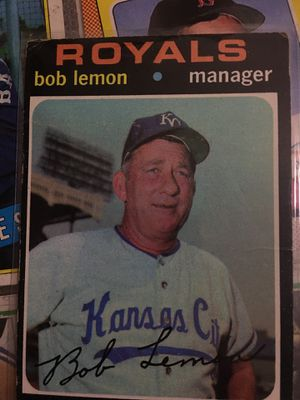Baseball card 1971 manager Bob. Lemon for Sale in Norwalk, CA
