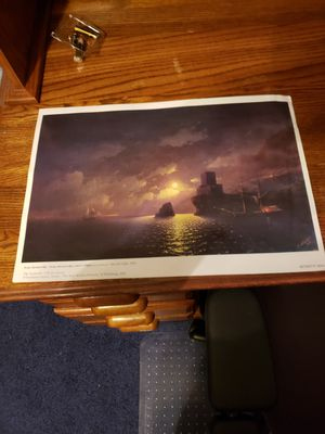 2003 Print of Moonlit Night 1849 By Ivan Aivazovsky (1817-1900) for Sale in Findlay, OH