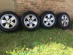 20 inch chrome rims for Chevy new tires for Sale in Houston, TX