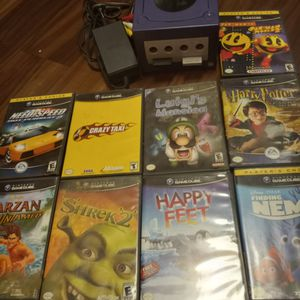 Gamecube / Game Cube Console. No Remotes Only Cords And Games. for Sale in Chula Vista, CA