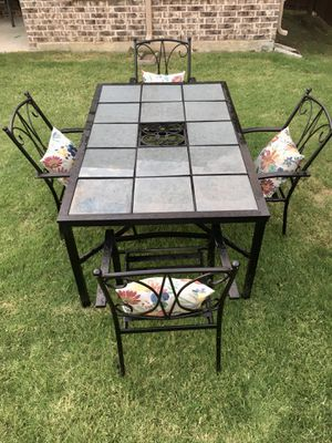 Metal Patio table and 4 chairs. Cushions not included for Sale in Frisco, TX