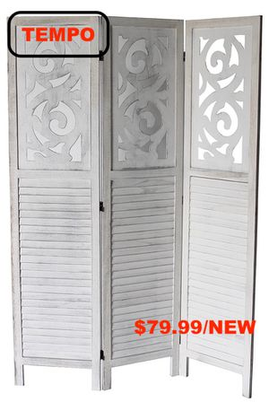 Rustic Shutter 3-Panel Room Divider, Grey for Sale in Westminster, CA