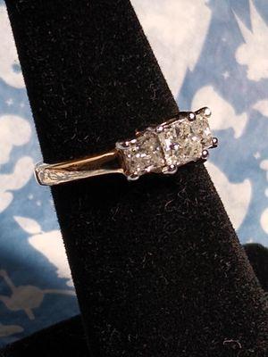 4,200 Platinum & 14k Yellow Gold Princess Cut Natural 1.00ctw Diamond Ring for Sale in Santa Ana, CA