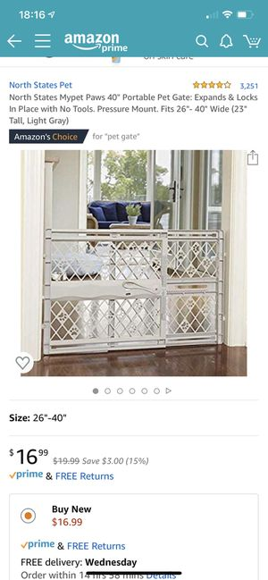 """40"""" portable pet gate. Hardly used! for Sale in San Francisco, CA"""