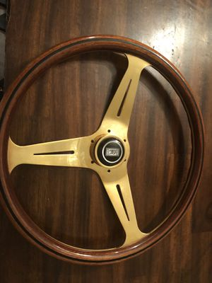 Gold Nardi steering wheel ( trades cool ) for Sale in Long Beach, CA