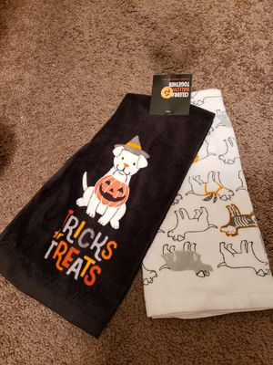 Halloween kitchen towels set of two for Sale in Gardena, CA