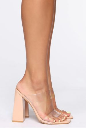 Brand New (Never Worn) Clear/Nude Heeled Sandals for Sale in District Heights, MD