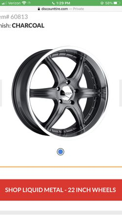 """22"""" chrome lip black rims 22 inch wheels and tire set for Sale in Portland,  OR"""