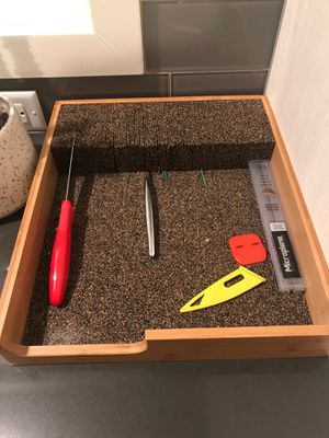Bamboo and cork knife storage for Sale in Portland, OR
