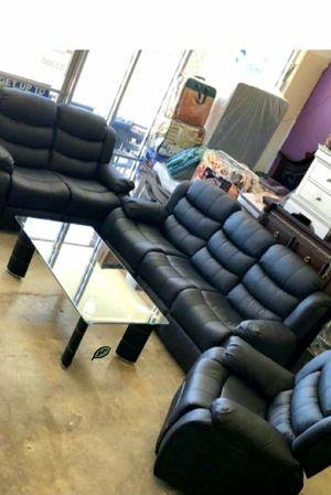 $39 Down  🍃🍂 BEST DEAL GT Black Reclining Living Room Set | U9600 279 for Sale in Jessup, MD