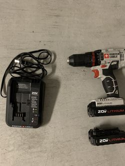 Porter Cable Drill with 2 Battery Packs and Charger for Sale in Sloan,  NV