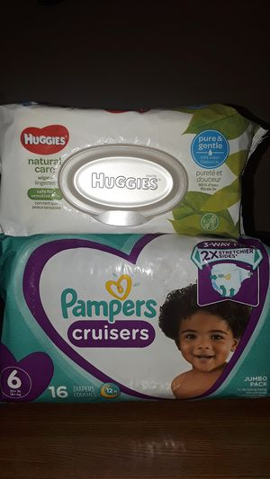 Wipes & Pampers size 6 for Sale in LOS ANGELES, CA