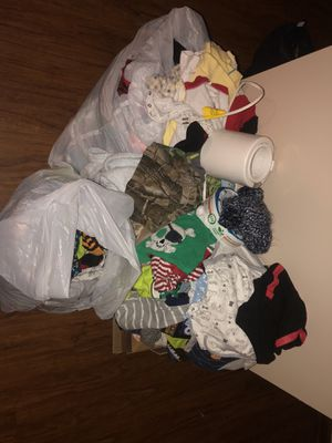 A ton of baby boy clothes 1 a piece nb and up for Sale in Greensboro, NC