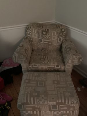 Couch and chair with ottoman - Delivery includes for Sale in Takoma Park, MD