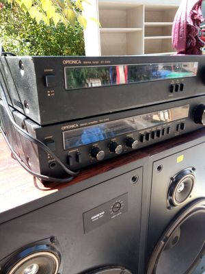 Stereo optonica amp and onkyo speakers for Sale in Portland, OR