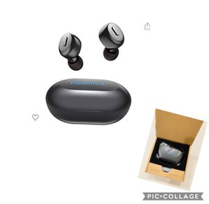 True Wireless Earbuds with Immersive Sound, Red2Fire in-Ear Stereo Bluetooth Earbuds with Charging Case, Auto Pairing/30H Playtime/Deep Bass/Built-in for Sale in Azusa, CA