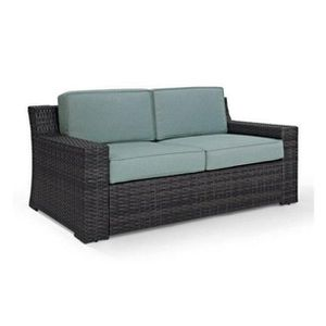 Crosley Furniture KO70102BR Beaufort Rattan Wicker Outdoor Loveseat (Brown/Mist) for Sale in Sugar Land, TX