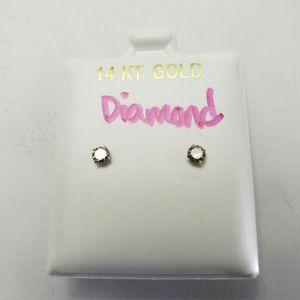 14K Gold and Diamond 💎 Earrings for Sale in Hialeah, FL