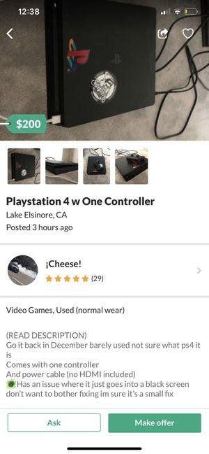 PS4 BE CAREFUL for Sale in Hemet, CA