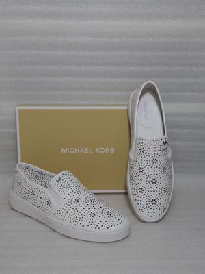 Michael Kors slip on sneakers. Size 10 women's shoe. White leather. Brand new in box for Sale in Portsmouth, VA