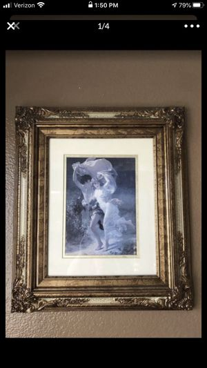 Gorgeous framed old art. Boy and girl running away! Romeo and Juliet for Sale in Temecula, CA