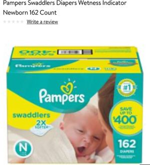 Pampers Swaddlers Diapers Wetness Indicator 162 ct for Sale in Houston, TX