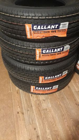New Trailer tires ST225 75R15 10ply $250 for Sale in Inglewood, CA