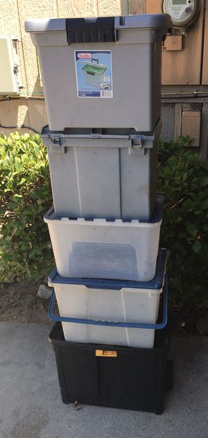 Storage / organizer containers / tote (set of 5) for Sale in Chino, CA