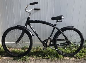 Nice Beach Cruiser bicycle - black and silver casual bike for Sale in Aloma, FL