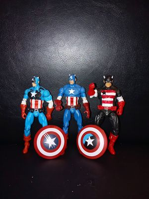 Captain america lot of 3 for Sale in West Chicago, IL
