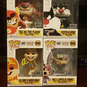 Looney Tunes Funko Pop Set F.y.e. Exclusives for Sale in Lynnwood, WA
